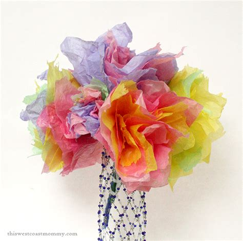 Paper Flower Bouquet Craft - craft tissue paper flowers this west coast