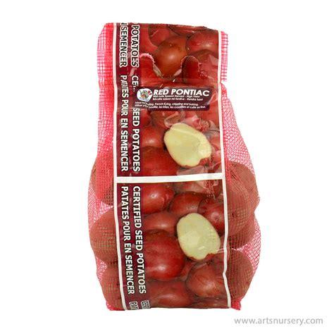 seed potatoes red pontiac arts nursery