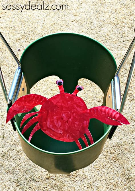 Crab Paper Plate Craft - paper plate crab craft for crafty morning