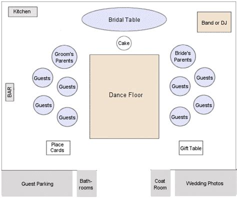 floor plan for wedding reception weddings party reception hall guides