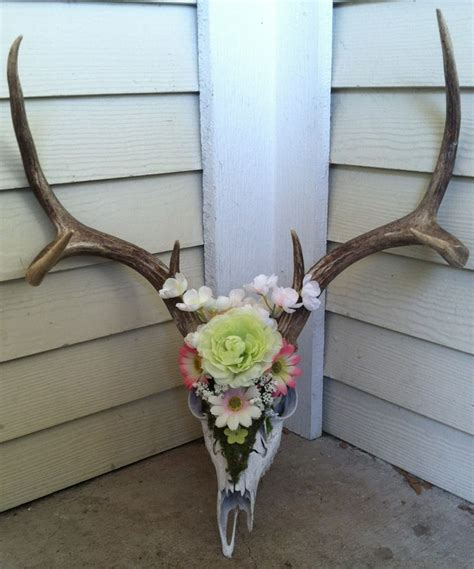 Decorated Deer Skull by 1000 Ideas About Deer Skull Decor On Deer