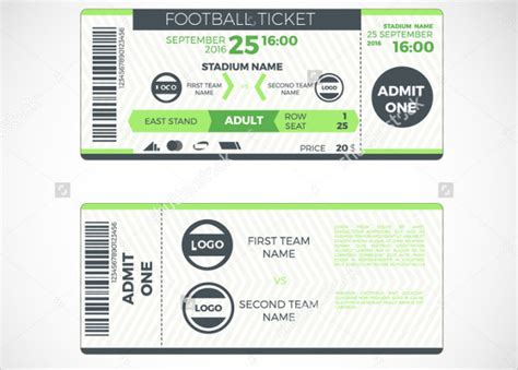 free printable sports tickets 8 sports ticket templates free psd ai vector eps