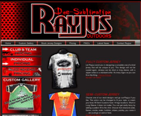 rayjusoutdoorscom fishing tournament shirts jerseys