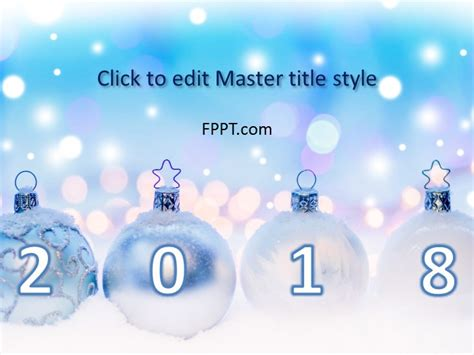 free new year frozen balls powerpoint template free