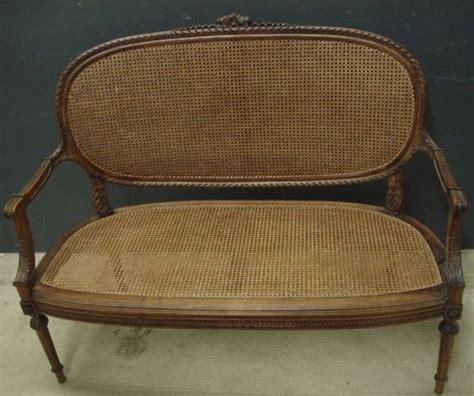 vintage cane sofa antique french cane sofa 291352 sellingantiques co uk