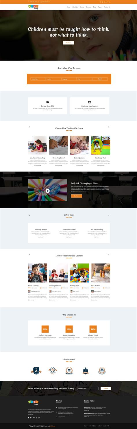 bootstrap templates for learning educo elearning education bootstrap html template by