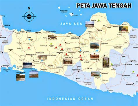 Republik Indonesia Propinsi Djawa Tengah peta jawa tengah lengkap dengan daftar 35 kabupaten dan kota sejarah negara