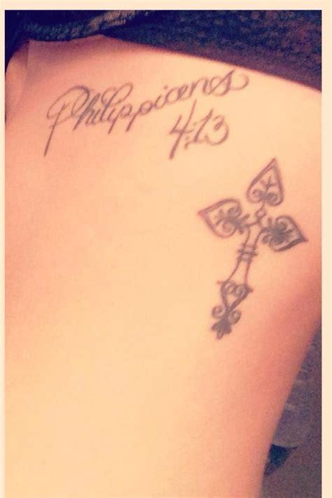cross tattoo philippians 4 13 philippians 4 13 tattoo with cross tattoo tattoos
