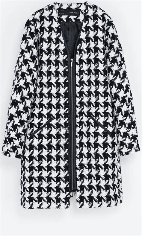 Sale Zak09 Zara Houndstooth Blouse zara dogtooth coat 163 109 mobile fashion find coats in and the o jays