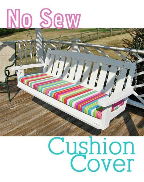 sewing a bench cushion no sew cushions cushion covers and cushions on pinterest