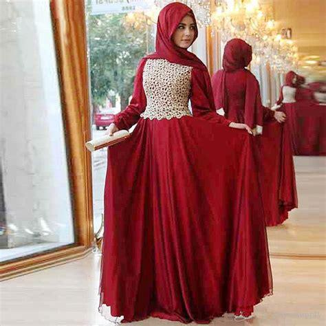 Baju Terusan Wanita Muslim Longdress Line Dress aliexpress buy 2017 new design evening dress sleeve lace chiffon muslim