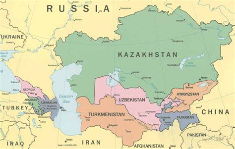kirgistan map central asia maps caucasus kazakhstan uzbekistan