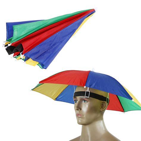 Promo Topi Payung Headband Umbrella Hat Topi Mancing Golf Unik Outdoo popular rainbow umbrella hat buy cheap rainbow umbrella hat lots from china rainbow umbrella hat