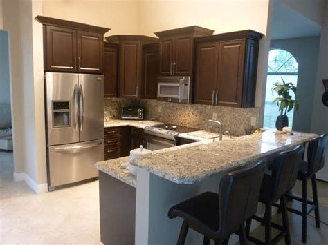 Chocolate Kitchen Cabinets Chocolate Thermofoil Kitchen Cabinets Kitchen Miami By Visions