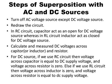in dc inductor acts as superposition of ac and dc sources