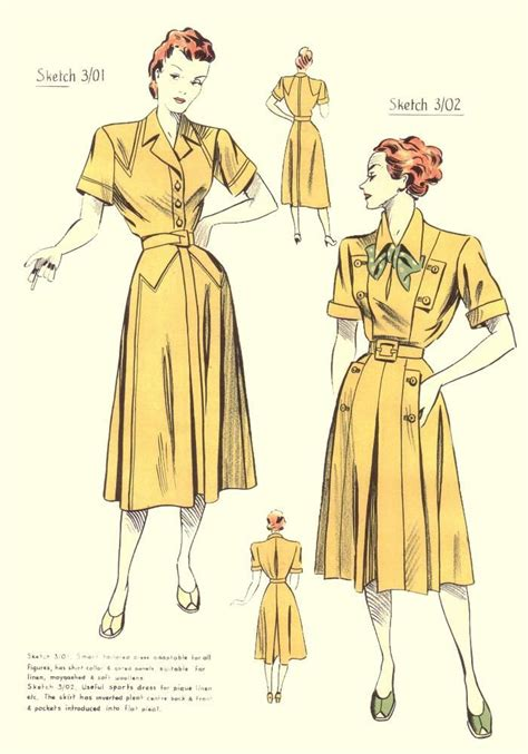 dress pattern history fashion through time fashion changes throughout the 30s