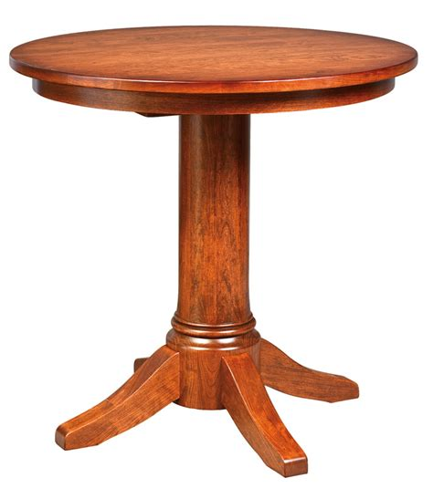 Bar Style Table by Pub Style Pedestal Table Town Country Furniture