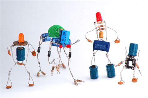 electronic parts resistors capacitors recytronic a energia do lixo sparebots