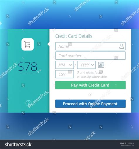 Credit Card Payment Website Template by Shopping Cart Check Out Credit Card Payment Website