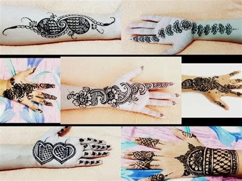 black henna tattoo tutorial easy simple mehndi mehendi mehandi henna design