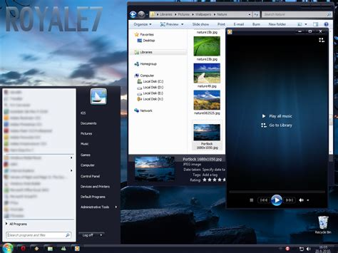 html basic themes windows 7 basic royale7 windows 7 themes