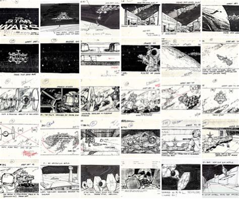 star wars storyboards early storyboards show evolution of star wars universe wired