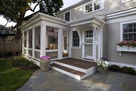 screened porch makeover screened porch makeover traditional with flagstone