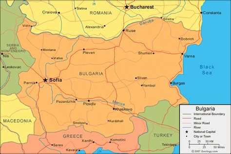 map of bulgaria a political map of bulgaria