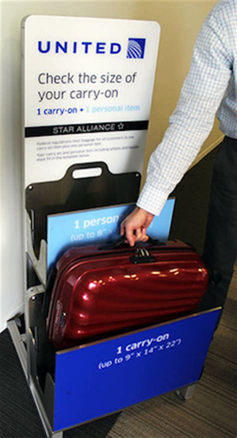 united carry on fee united s strict new carry on baggage rules go into