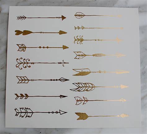 metallic arrows boho gold arrow tattoos bohemian metallic
