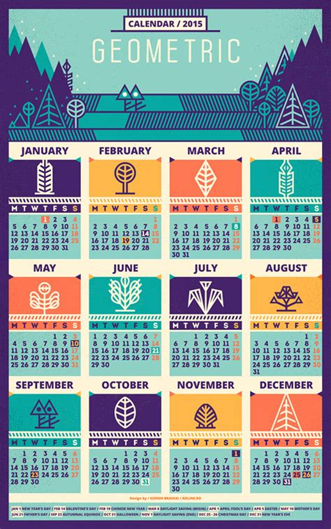 cool design ideas 31 cool ideas for calendar design 2016 web graphic