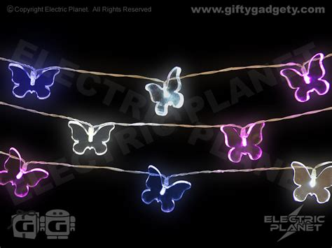 Mains Powered Bedroom Lights Butterfly Led Indoor String Lights Mains Powered 4 6m