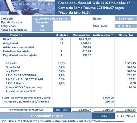 empleados de comercio liquidaci 243 n de sueldo septiembre de calculadora de sueldo empreado de comercio empleados de