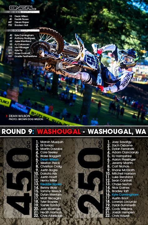 motocross race results o neal mx race results 9 washougal wa