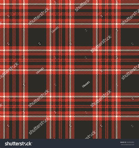 pattern colorful kilt plaid tartan seamless pattern black white stock vector