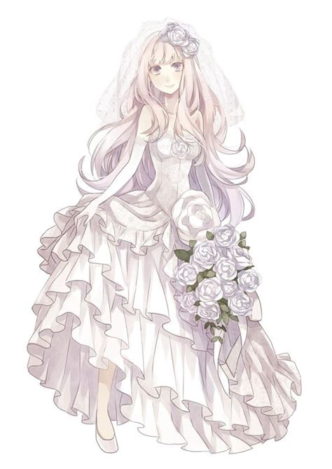 wedding anime tags anime wedding wedding dress bouquet yuzuki karu