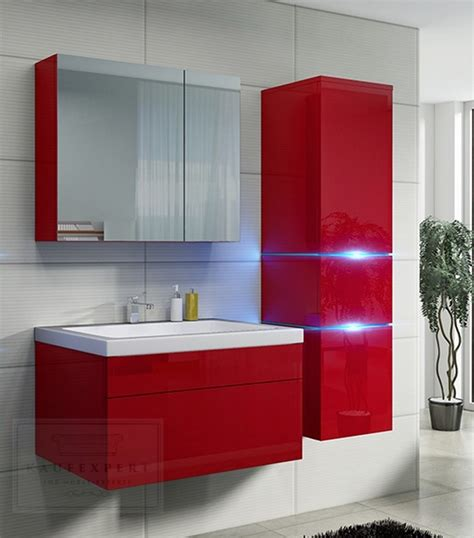 badezimmer spiegelschrank rot badm 246 bel in rot reuniecollegenoetsele