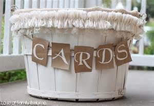 diy wedding card basket of family home