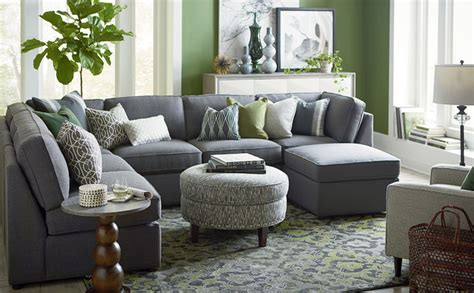 u shaped couch living room furniture beckie u shaped sectional by bassett furniture