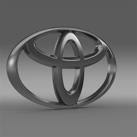 cool toyota logos toyota logo 3d model max obj 3ds fbx c4d lwo lw lws