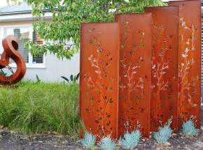 Garden Screen Panels by Decorative Metal Outdoor Privacy Screens Panel Trellis