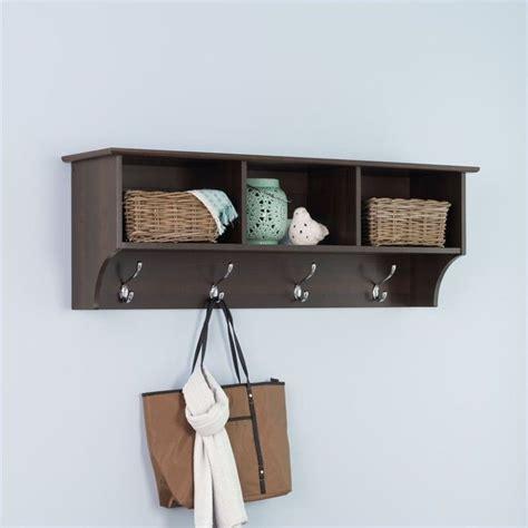 espresso entryway cubbie shelf coat rack eec 4816