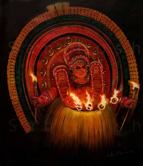 For Painting folio theyyam painting
