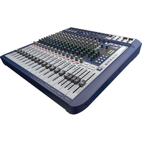 Mixer Soundcraft Fx 16 soundcraft signature 16 16 input mixer with effects 5049559 b h