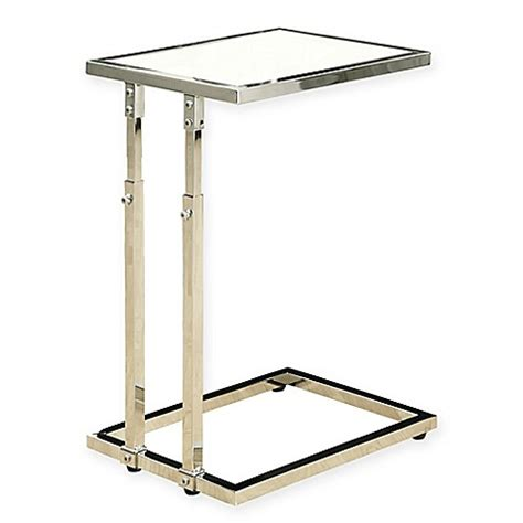 chrome accent tables buy chrome metal adjustable height accent table in white