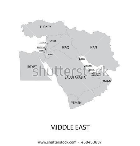 middle east map vector east symbol stock photos images pictures