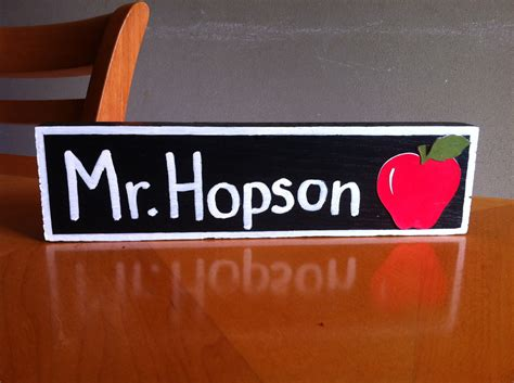 personalized teacher desk name plate great teacher gift personalized wooden name plate for