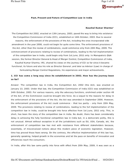 Past Present And Future Of Mathematics In India Essay by The Past Present And Future Of Merger Regime In India An Inte