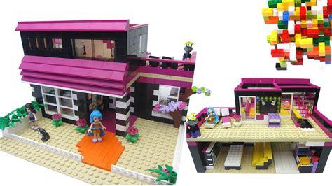 lego friends house lego friends pop star house by misty brick youtube