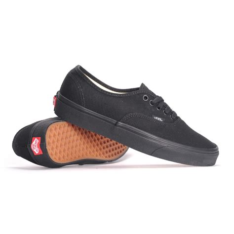 vans authentic black black mens skate shoes
